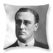 Young Franklin Delano Roosevelt Throw Pillow by War Is Hell Store
