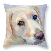 Young Man Throw Pillow by Kimberly Santini