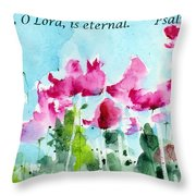 Your Word O Lord Throw Pillow by Anne Duke