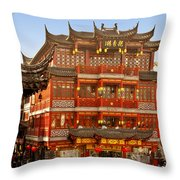 Yuyuan - A Bizarre Bazaar Throw Pillow by Christine Till