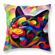 Zen Ziggy Throw Pillow by Sherry Shipley