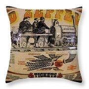 Zeppelin Express Work B Throw Pillow by David Lee Thompson