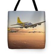 B17 - 486th Bg - Homeward Tote Bag by Pat Speirs