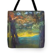 Blazing Autumn Light Tote Bag by Sandra McClure