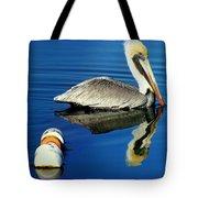 Blues Pelican Tote Bag by Karen Wiles