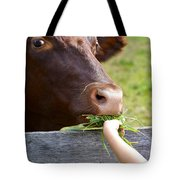Childs Helping Hand Tote Bag by Julie Palencia