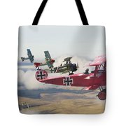 Circus Comes To Town Tote Bag by Pat Speirs