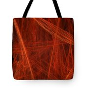Dancing Flames 1 V - Panorama - Abstract - Fractal Art Tote Bag by Andee Design