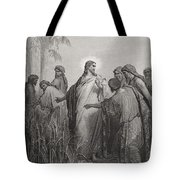 Jesus and His Disciples in the Corn Field Tote Bag by Gustave Dore