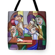 Jesus Anointed At Bethany Tote Bag by Anthony Falbo
