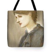 Portrait Of Mrs William J Stillman Nee Marie Spartali Tote Bag by Sir Edward Coley Burne Jones