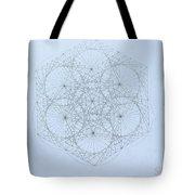 Quantum Snowflake Tote Bag by Jason Padgett
