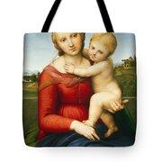 The Small Cowper Madonna Tote Bag by Raphael Raffaello Sanzio of Urbino