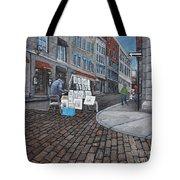 Vendeur Sur La Rue Vieux Montreal Tote Bag by Reb Frost