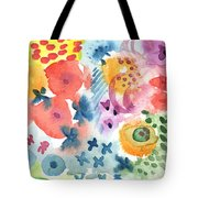 Watercolor Garden Tote Bag by Linda Woods