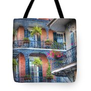 0255 Balconies - New Orleans Tote Bag by Steve Sturgill