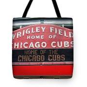 0334 Wrigley Field Tote Bag by Steve Sturgill