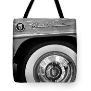 1951 Mercury Montclair Convertible Wheel Emblem Tote Bag by Jill Reger