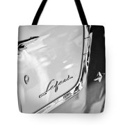 1955 Pontiac Safari Station Wagon Emblem Tote Bag by Jill Reger