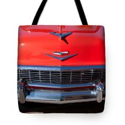 1956 Chevrolet Belair Convertible Custom V8 Tote Bag by Jill Reger