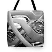 1957 Chevrolet Cameo Pickup Truck Steering Wheel Emblem Tote Bag by Jill Reger