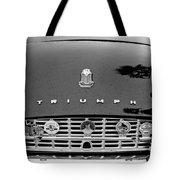 1960 Triumph Tr 3 Grille Emblems Tote Bag by Jill Reger