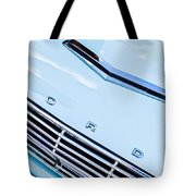 1963 Ford Falcon Futura Convertible Hood Emblem Tote Bag by Jill Reger