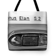 1965 Lotus Elan S2 Taillight Emblem Tote Bag by Jill Reger