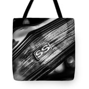 1969 Chevrolet Camaro Rs-ss Indy Pace Car Replica Steering Wheel Emblem Tote Bag by Jill Reger