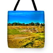 #4 At Chambers Bay Golf Course - Location Of The 2015 U.s. Open Championship Tote Bag by David Patterson