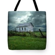Abandoned Building In A Storm Tote Bag by Jill Battaglia