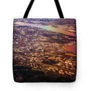 Aerial View of Riga. Latvia. Rainbow Earth Tote Bag by Jenny Rainbow