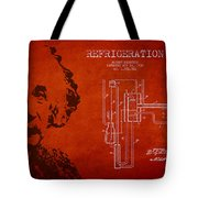 Albert Einstein Patent Drawing From 1930 Tote Bag by Aged Pixel