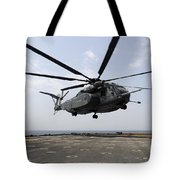 An Mh-53e Sea Dragon Prepares To Land Tote Bag by Stocktrek Images