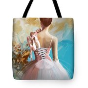 Ballerina's Back Tote Bag by Corporate Art Task Force