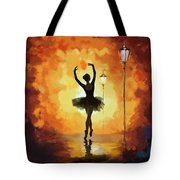 Ballet Dancer Tote Bag by Corporate Art Task Force