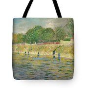 Bank Of The Seine Tote Bag by Vincent van Gogh