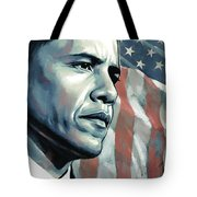 Barack Obama Artwork 2 Tote Bag by Sheraz A
