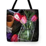 Beautiful Spring Tulips Tote Bag by Edward Fielding