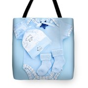 Blue Baby Clothes For Infant Boy Tote Bag by Elena Elisseeva