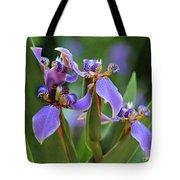 Blue Iris Drama Tote Bag by Carol Groenen