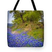 Bluebonnet Meadow Tote Bag by Inge Johnsson