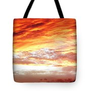 Bright Summer Sky Tote Bag by Les Cunliffe