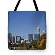 Charlotte Skyline Tote Bag by Jill Lang