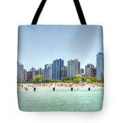 Chicago North Avenue Beach Tote Bag by Patrick  Warneka