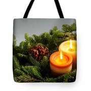 Christmas candles Tote Bag by Elena Elisseeva