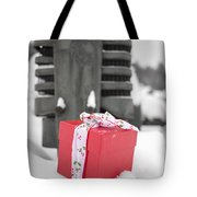 Christmas Down On The Farm Tote Bag by Edward Fielding
