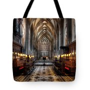 Church Interior Tote Bag by Adrian Evans