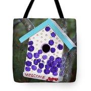 Cute Little Birdhouse Tote Bag by Carol Leigh