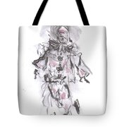 Dancing Clown Tote Bag by Laurie D Lundquist